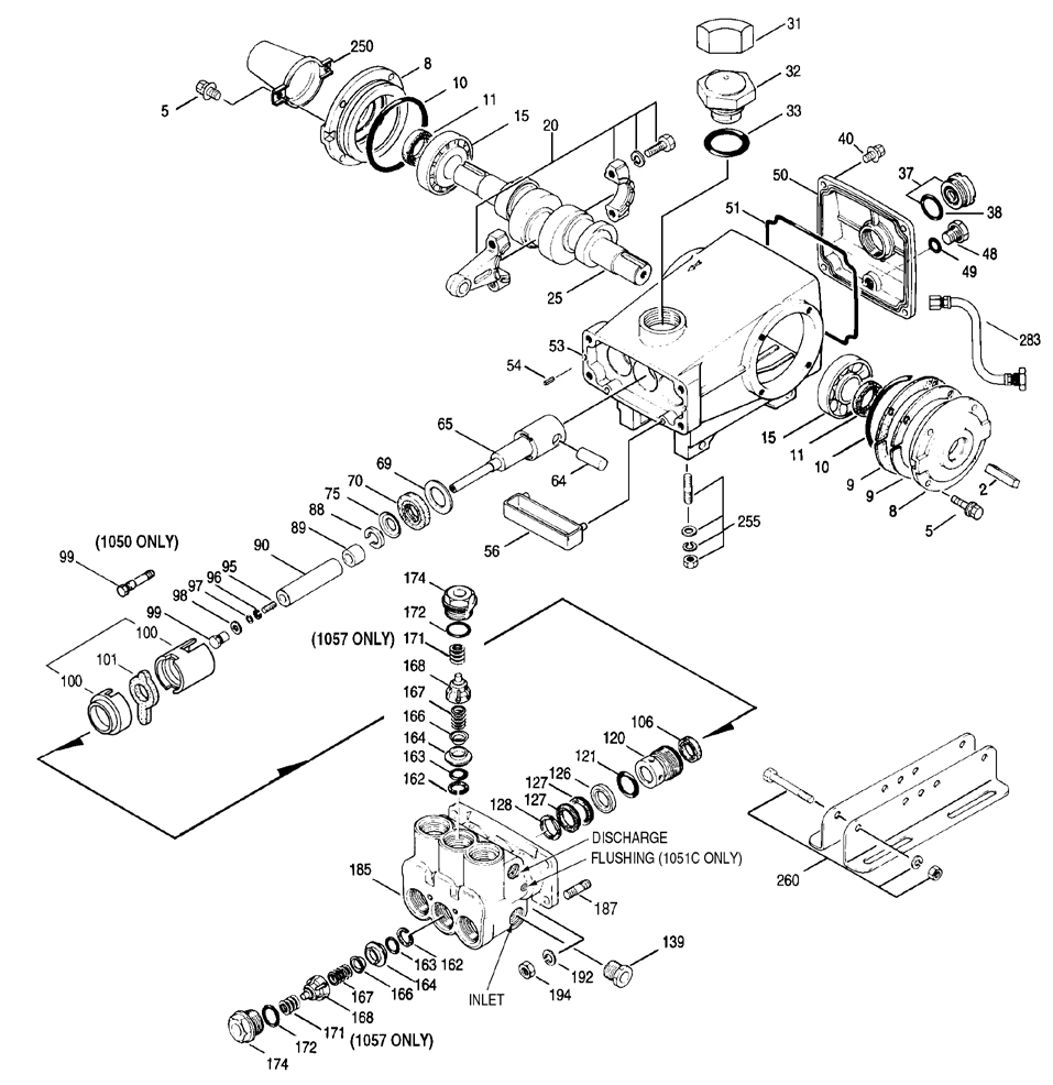 cat1057exploded cat pump 1057 pressure washer pump ets company pressure hot water pressure washer wiring diagram at bayanpartner.co