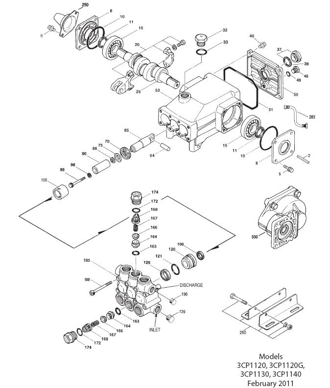Ets Companycat Pump 3cp1130 Ceramic Plunger Pressure Washer Pump