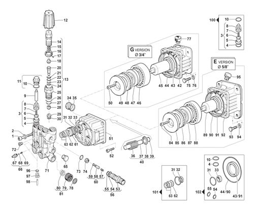 comet pressure washer pump axd 2020 e 6501 0010 00 ets company rh etscompany com Pressure Washer Pump Parts Diagram Pressure Washer Replacement Pumps