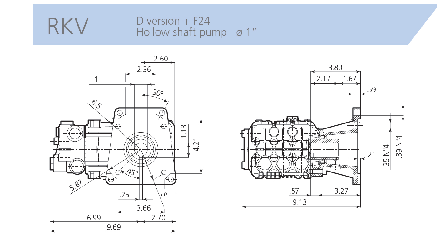 Ar Annovi Reverberi Rkv4g30ad F24 Pressure Washer Pump