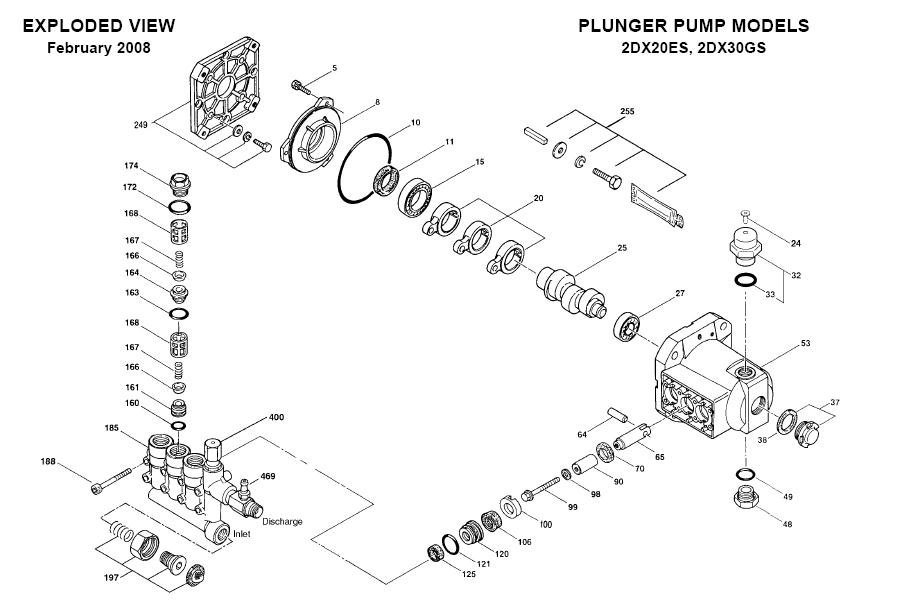 cat pump 2dx20es pressure washer plunger pump