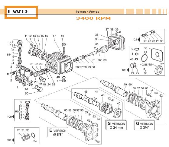 ets companycomet pump lwd 2010 s 6303 0306 00 ets company rh etscompany com Comet Pressure Washer Pump Parts Generac Generator Parts Lookup