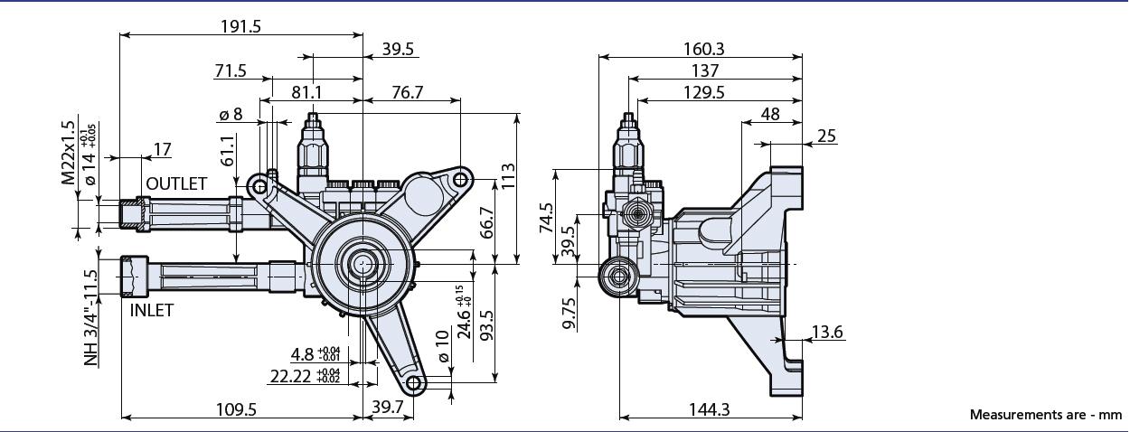 annovi reverberi pressure washer pump rmw2 5g25d