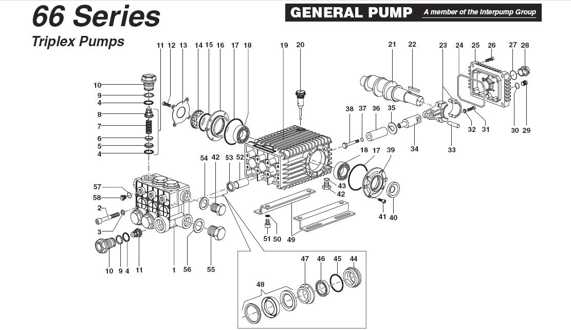comet pressure pump parts pdf