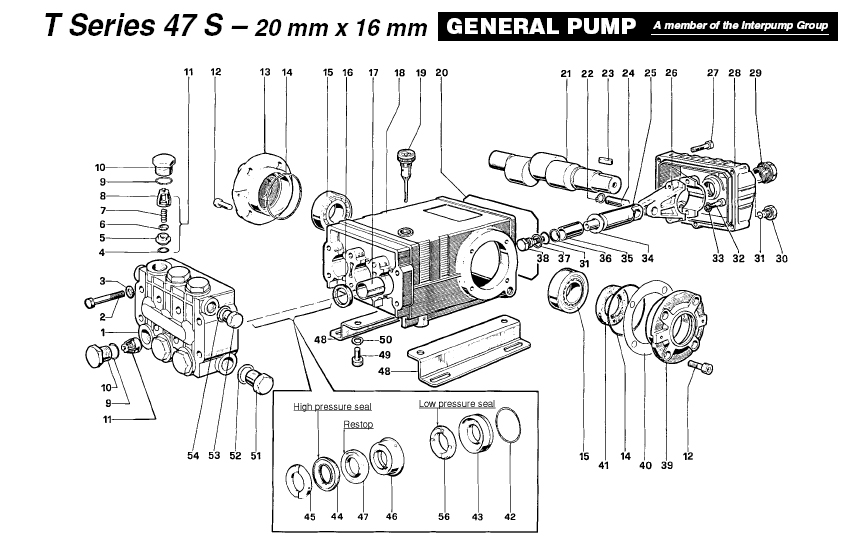 general pressure washer pump ts1021l series 47