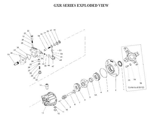 giant pumps - gxrv2224-212 - triplex plunger pump