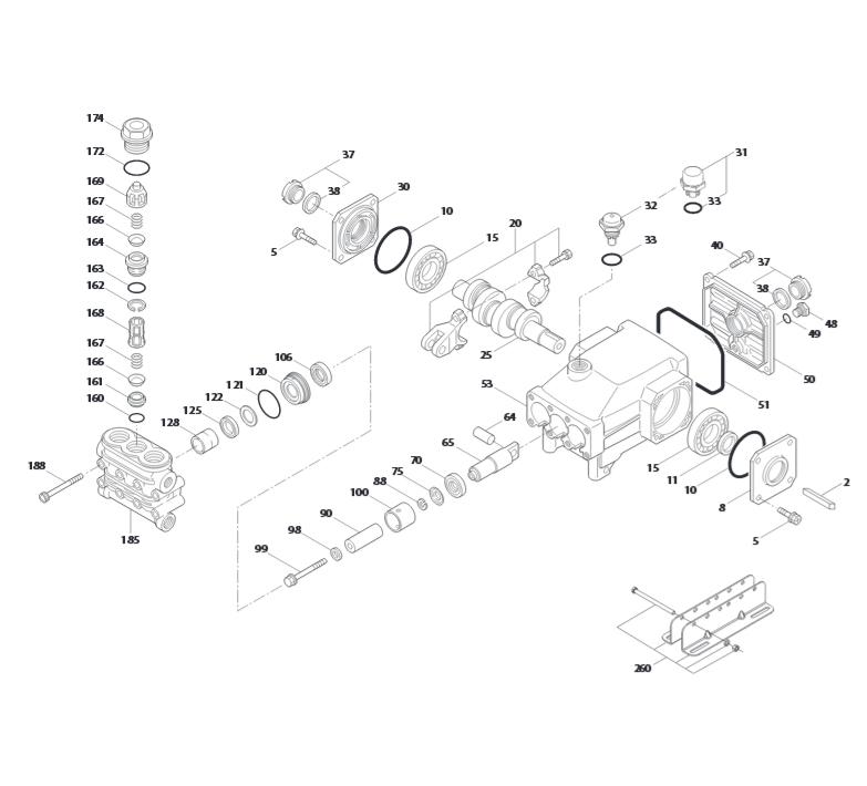 Cat pump parts diagram