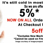 5% off all Orders over $50.00. Use Code 5off at Checkout