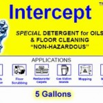INTERCEPT - INDUSTRIAL OIL CLEANER AND DEGREASER - 5 GALLONS