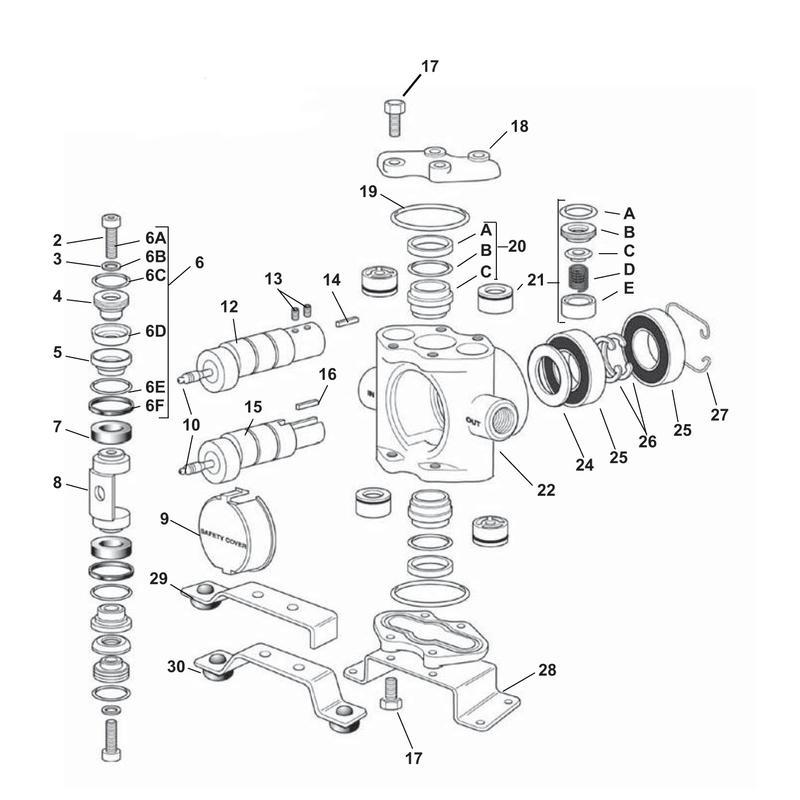 ets panyhypro pumps 5315c x the 5300 series pump assembly ets  parts breakdown repair manual